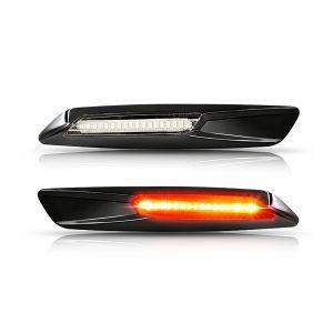 BMW Frecce laterali base nera e lente chiare (2PCS)