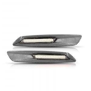 BMW Frecce laterali base eff. carbonio e lente chiare (2PCS)